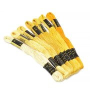 """""""Цветик-семицветик"""" набор №1-желтый лепесток мулине ассорти 7х10м"""